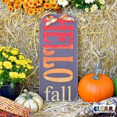 Glittery Hello Fall Sign