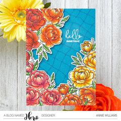Bright Floral Hello Card