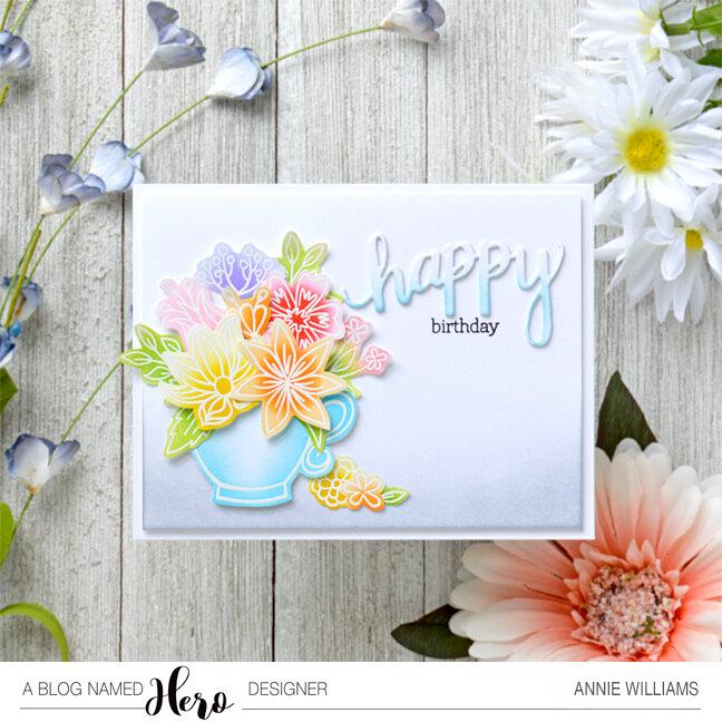 Ink Blended Flower Teacup