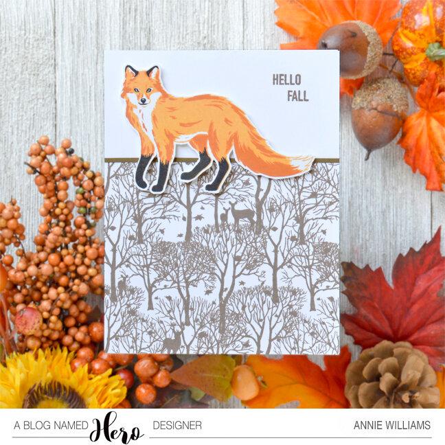 Hello Fall Fox Card