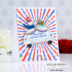 Uncle Sam and Lady Liberty Card