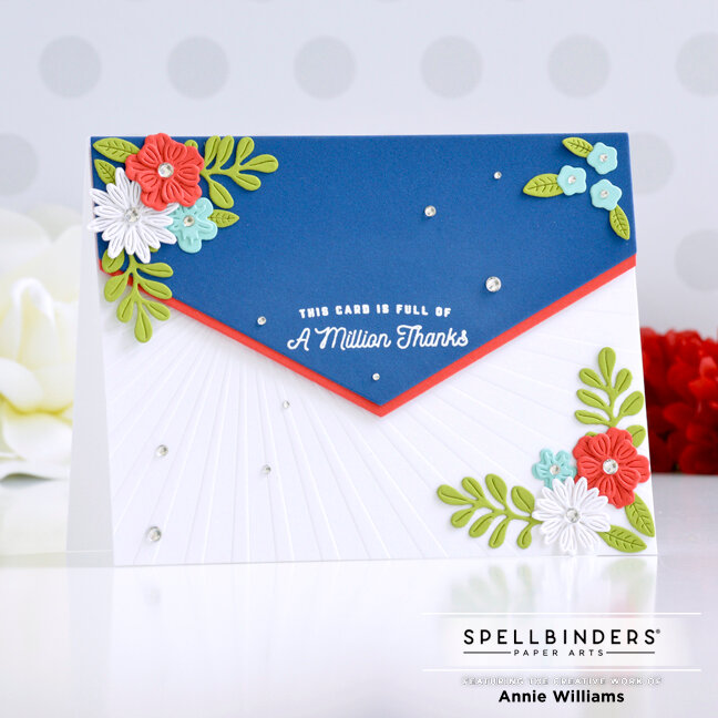 Patriotic Florals Thank You Card