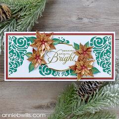 Poinsettia Slimline Card