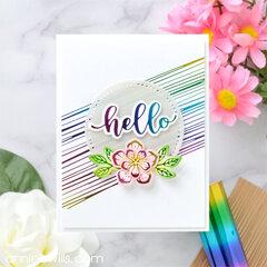 Clean and Simple Rainbow Hello Card