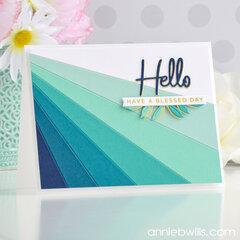 Crisp & Clean Hello Card