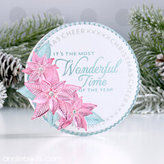 Sparkling Poinsettia Card
