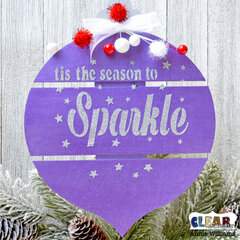 Sparkly Christmas Ornament Sign