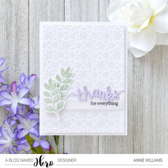 Sparkly Thanks Card