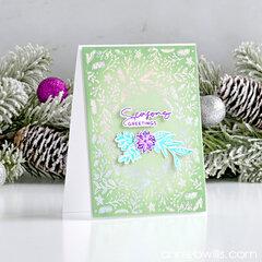 Simple Foiled Christmas Card