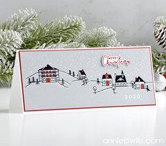 Slimline Christmas Village Card