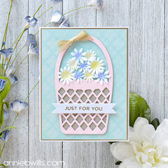 Spring Flowers Basket Card