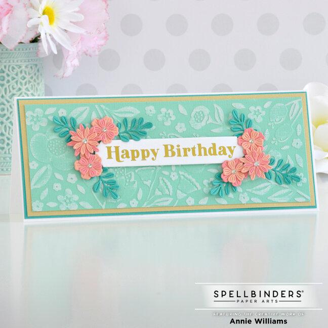 Slimline Floral Birthday Card