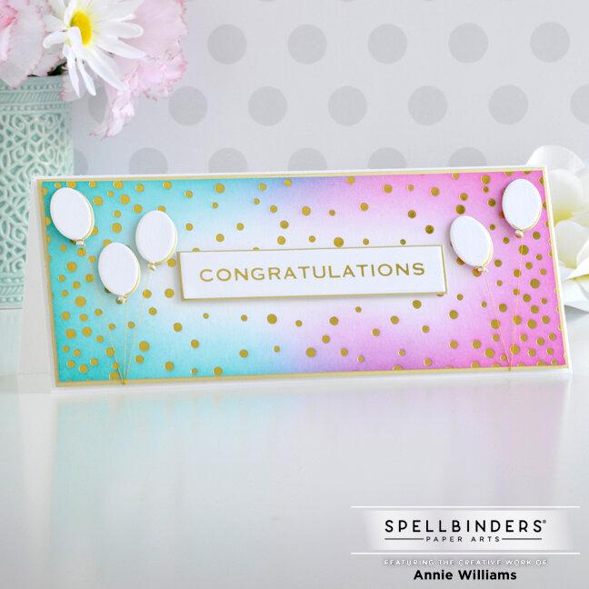 Bright Slimline Congrats Card
