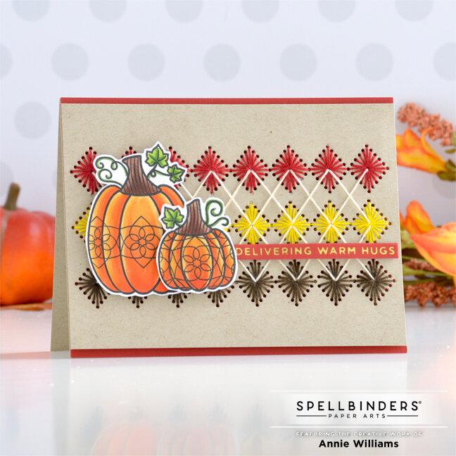 Autumn Argyle Card