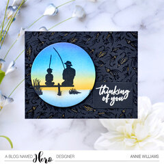 Sunset Fishing Card