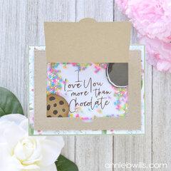 Sweet Cookie Box Shaker Card Interior