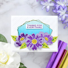 Foiled Floral Card