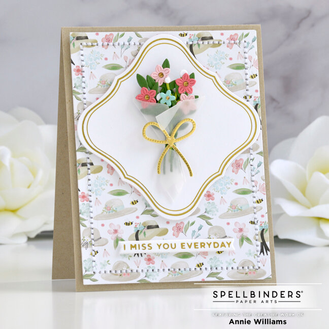 Floral Missing You Card
