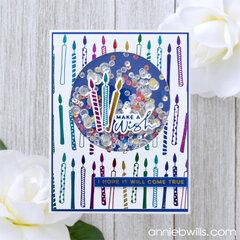 Foiled Birthday Shaker Card