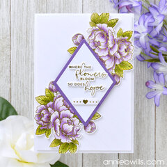 Pretty Foiled Peony Card