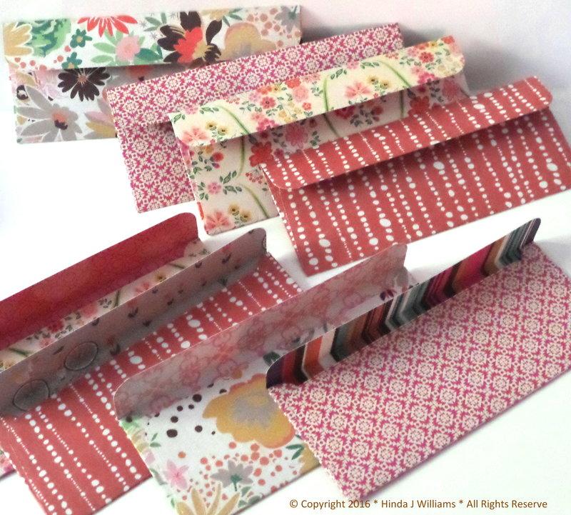 Small Handmade Envelopes * 8 PC Set