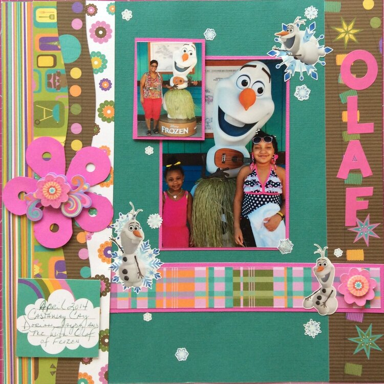 On Castaway Cay with Olaf