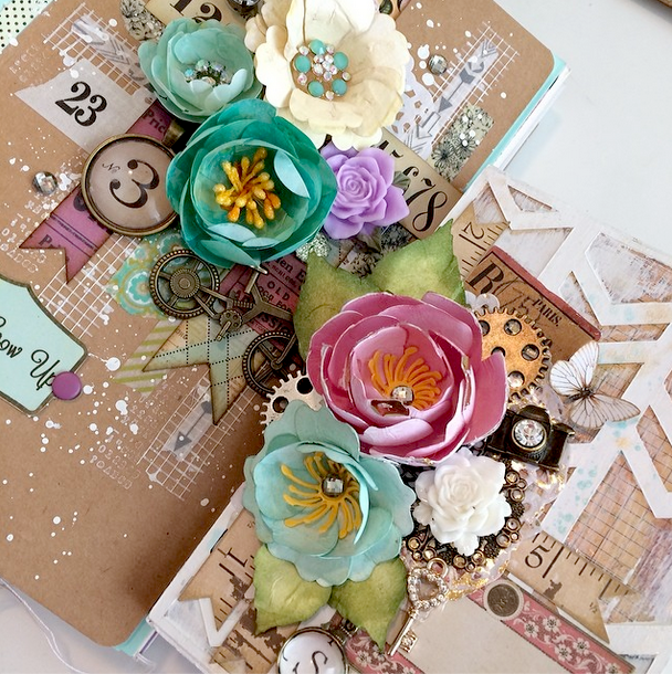 Handmade Paper Flowers using bloom Impressions Tool
