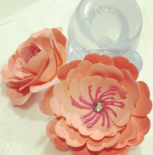Used the Bloom Impressions Tool and The Bloom Impressions Tickseed Flower
