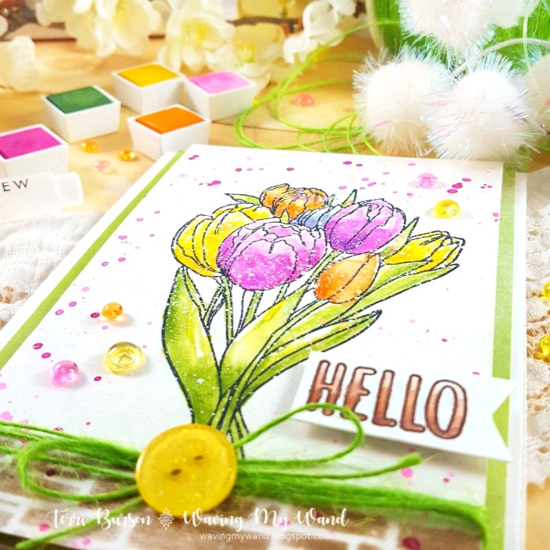 Spring Flowers featuring Altenew Watercolors