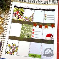Christmas Week Planner Spread