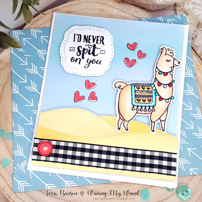 Llama Love with Bonus Coordinating Envelope