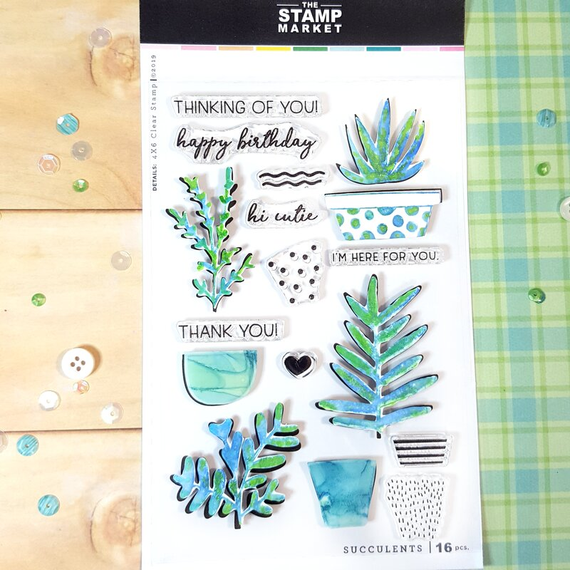 Succulent Stamp Set from The Stamp Market