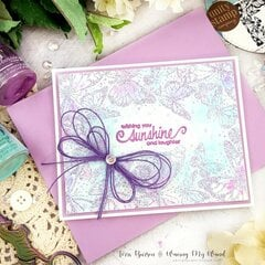 Tri-Color Heat Embossed Card