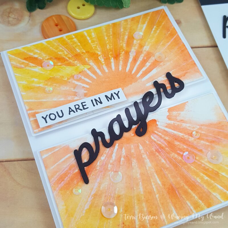 Distress Embossed Encouragement Card