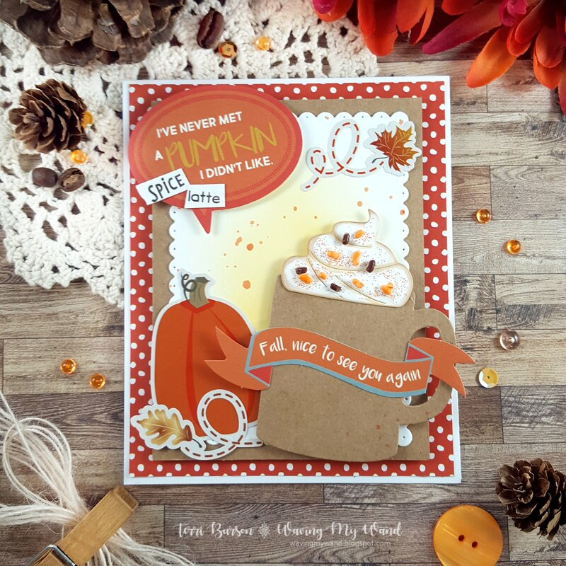 Pumpkin Spice Coffee Card