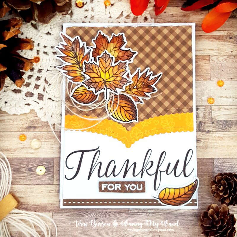 Watercolored Autumn Leaves Card