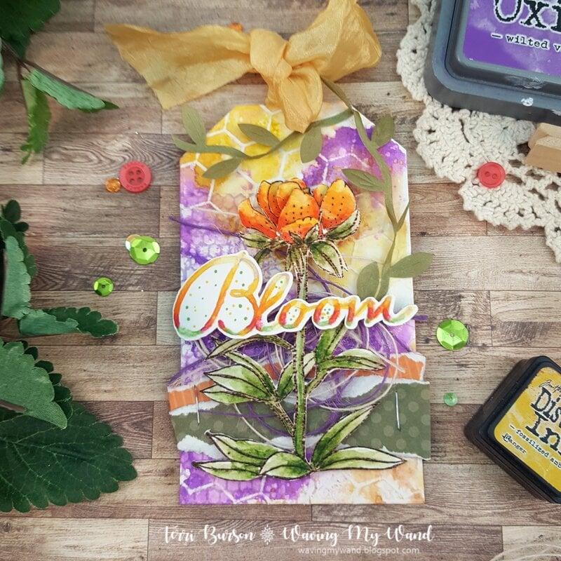 3D Floral Jumbo Tag