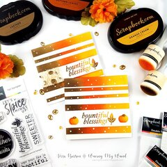 Masked & Ink Blended Autumn Cards + Video