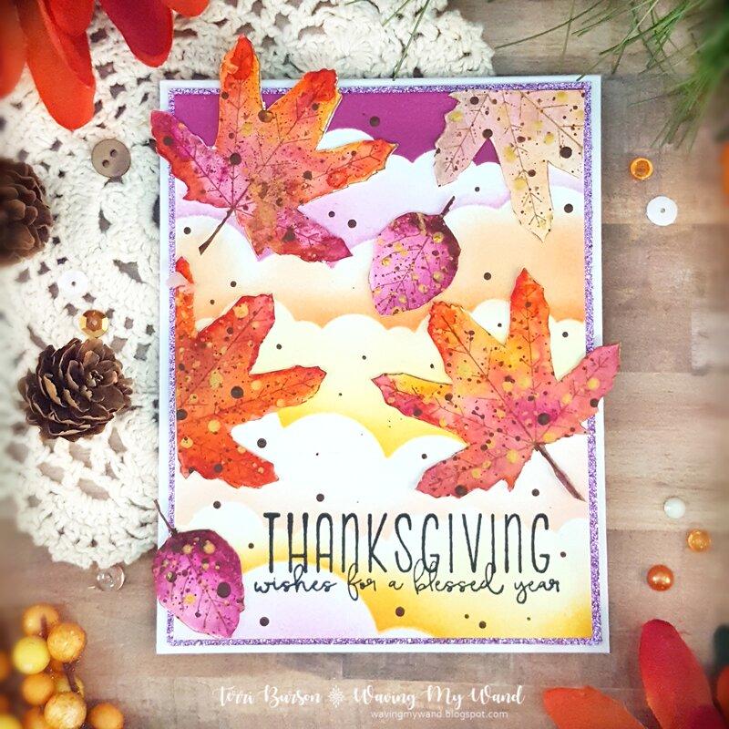 Thanksgiving Autumn Leaves Card