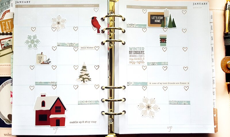 Planner Layout Featuring Winter Farmhouse from Simple Stories