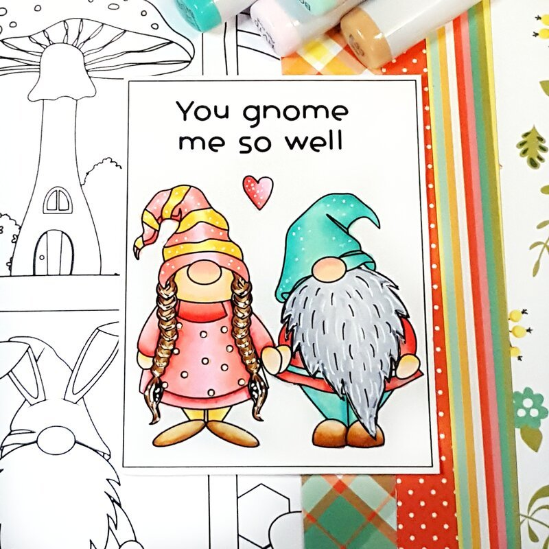 Coloring the new Photo Play Paper Tulla & Norbert Color Play