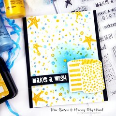 Make a Wish Birthday Card w/new Ranger Ink/Wendy Vecchi