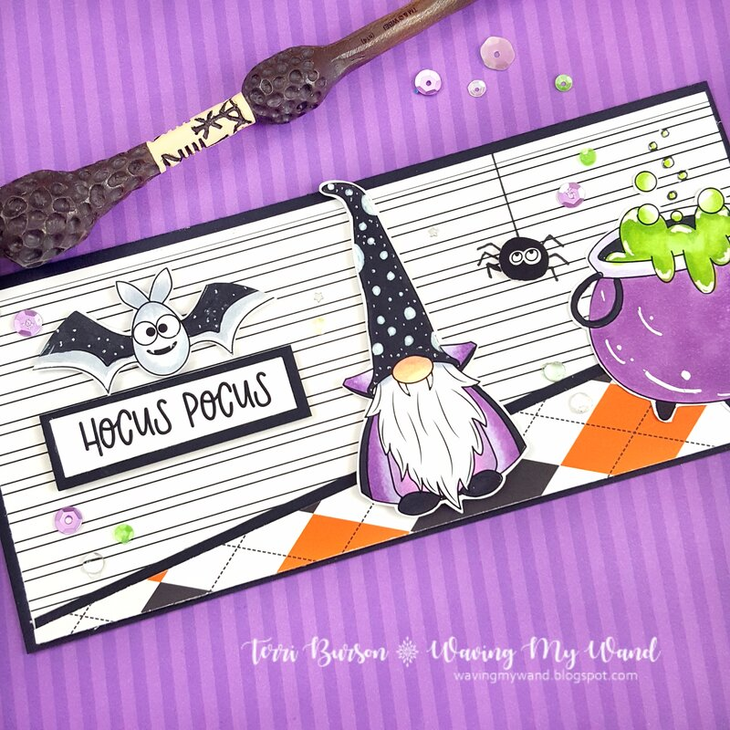 Halloween Gnomes with Photo Play Paper