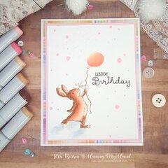 Birthday Bunny Card with Colorado Craft Company