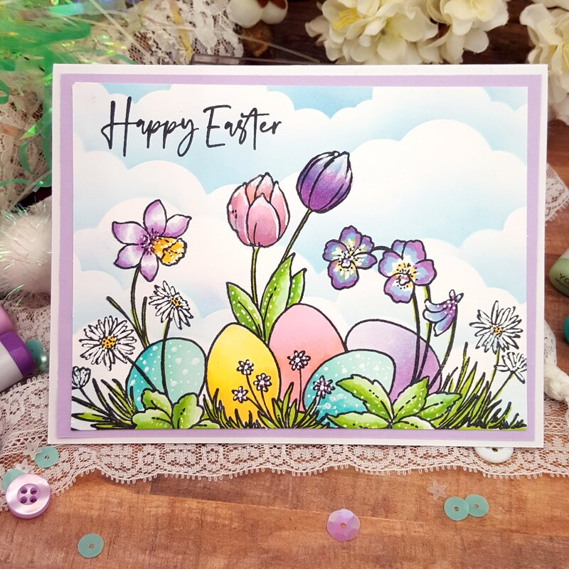 Easter Card feat. Penny Black Stamps