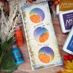 Pumpkin Patch Slimline Card for Ranger