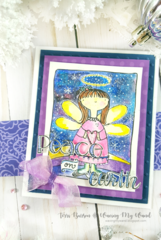 Adornit Christmas Angel Card with Galaxy Sky