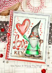 Gnome Valentine Card + Enter to Win