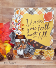 """Fall"" in Love Card with Carta Bella Papers and Unity Stamps"