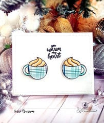Winter Coffee Card featuring Echo Park Paper and Sunny Studio Stamps